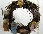 Holy Family Nativity Manger Scene Christmas Ornament 202