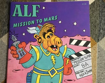 Vintage Alf Mission to Mars Book 1987