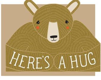 Bear Hug Die Cut Card