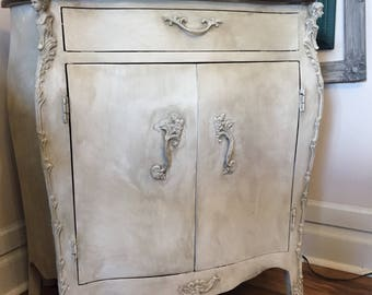 Vintage Painted Bombay Cabinet