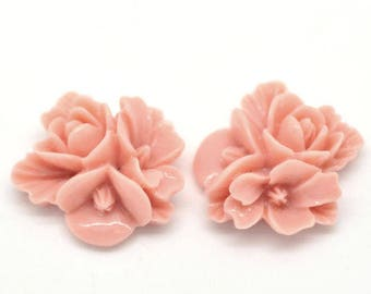 free UK postage- Pack of 10 Resin Flowers Cabochons