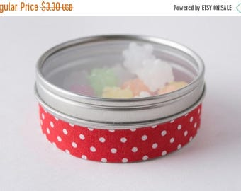25% Off Summer Sale Fabric Deco Tape Red with White Polka Dots - Scrapbook Embellish Decorate - Colorful and Fun - Single Roll No. F79