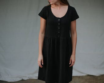 Vintage County Fair Dress Cotton Gathered Dress Women's Clothing