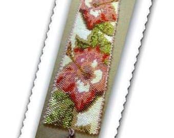 Peyote - Mesmerizing Flora - BP-FLO-080 - Peyote Pattern, Peyote Bracelet pattern, beadweaving pattern, peyote stitch, bracelet pattern
