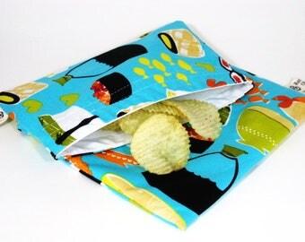 Sushi Sandwich and Snack Bag Set, Reusable
