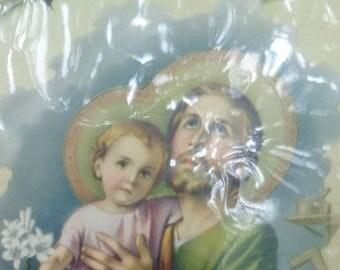 Vintage Sainte-Anne-de-Beaupré Shrine CANADA Double sided artwork on fabrique