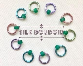 Snag Free ring stitch markers/ringos /knitting - SILK BOUDOIR