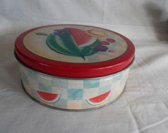 Vintage Small Tin Fruit Can
