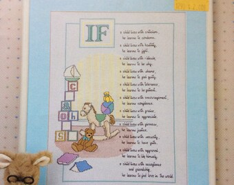 Children Learn What They Live, Counted Cross Stitch Pattern, by Leisure Arts, 1986