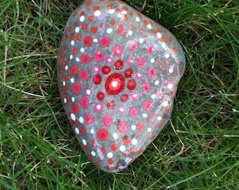 Pink Mandala Hand Painted Rock