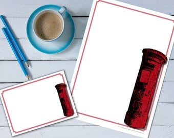 British Post Box 'print your own' letter writing paper set