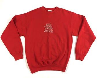 alien sweatshirt lee sportswear crewneck red XL
