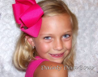 XL Bow, 5 Inch Wide Boutique Hair Bow, Extra Large Hair Bow, Big Hair Bow for Girls, Hair Bow, Hair Bow for Toddler