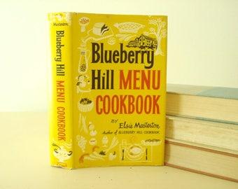 Vintage Blueberry Hill Menu Cookbook, Elsie Masterton 1963, Blueberry Hill Inn, Brandon, VT, 800 original recipes, year-round menu ideas