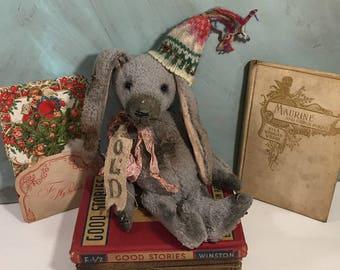 Bunny rabbit, Easter spring decor, handmade dolls, artist teddy bear, artist gifts ~ Brady Bears Studio