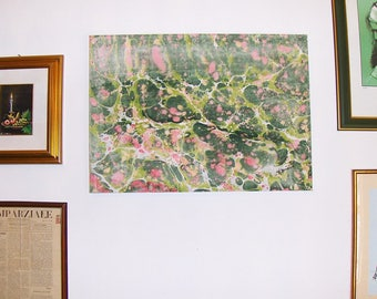 "marbled canvas, ready to hang,   tela  marmorizzata - 1,6"" x  19,6 c  27,5""  inches ""  - -  cm 4  x  50 x cm 70  -    951"