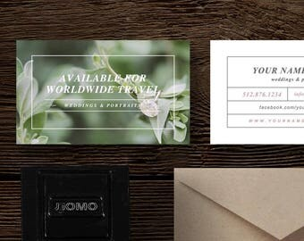 Business Card Template for Photographers - Photography Business Card Design - Photography Templates - Bittersweet Designs