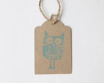 OWL favour tags, owl gift tags, thank you tags, GIGGLE and HOOT thank you tags, owl favour bag tags,  X 10
