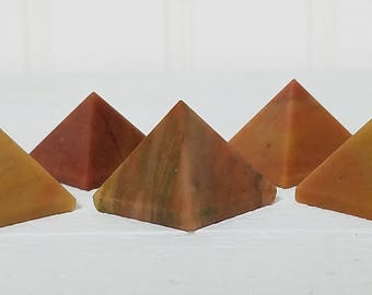 Mookaite Gemstone Pyramid - Stone of Ancient Respect