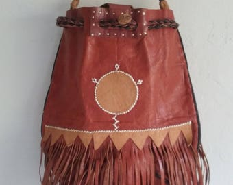 Vintage Purse • Native Leather • 1960s