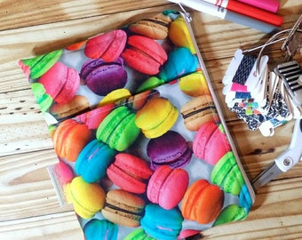 Macaron Pencil pouch, custom made, Zippered planner band, planner bag, life planner accessory, planner accessories, planny pack, zip pouch