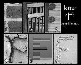 Photo Letter Wall Art - YOU Pick Letters F-K