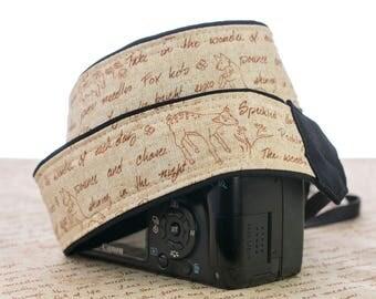 Camera Strap, Forest Friends, dSLR, SLR, Mirrorless, Camera Neck Strap, Canon, Nikon, Sony, Pentax, Minolta, Digital, Replacement, 278
