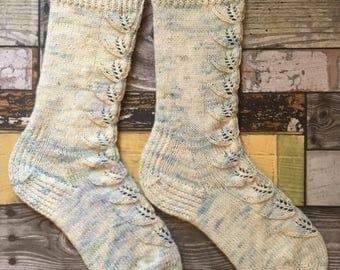 Soft hand knit socks hand dyed merino superwash yarn