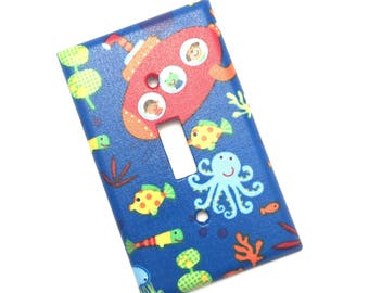 Submarine Sea Creature Light Switch Plate Cover