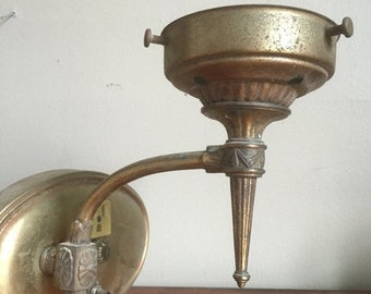 Easter Sale. Pair of Antique Metal Wall Sconces.
