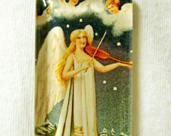 Angel with violin pendant with chain - GP01-580
