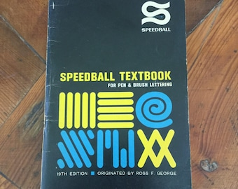 Vintage Speedball Textbook 19th Edition 1965 Calligraphy Pen and Brush Lettering, Hand Lettering, Sign Making, Vintage Typography,