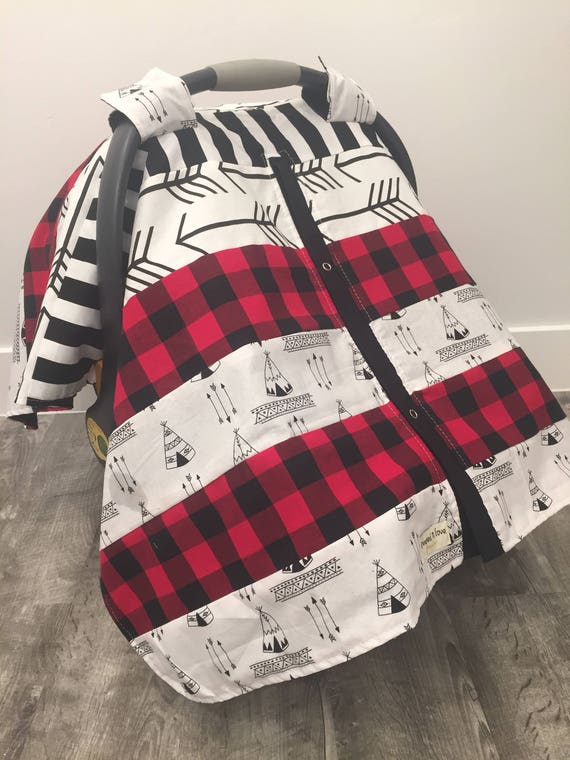 car seat cover / OOAK / carseat canopy / nursing cover / carseat cover /boy / arrow / infant car seat canopy / carseat cover/ teepee