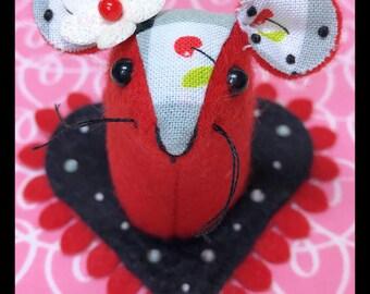 Heart Shaped Mouse Pincushion