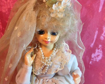 Vintage Doll by Brinns 1986 Bride Doll, Musical Wedding Doll, Brinns Musical Bridal Doll June 1986 Collectible, Toy Doll, Bridal Doll 86'