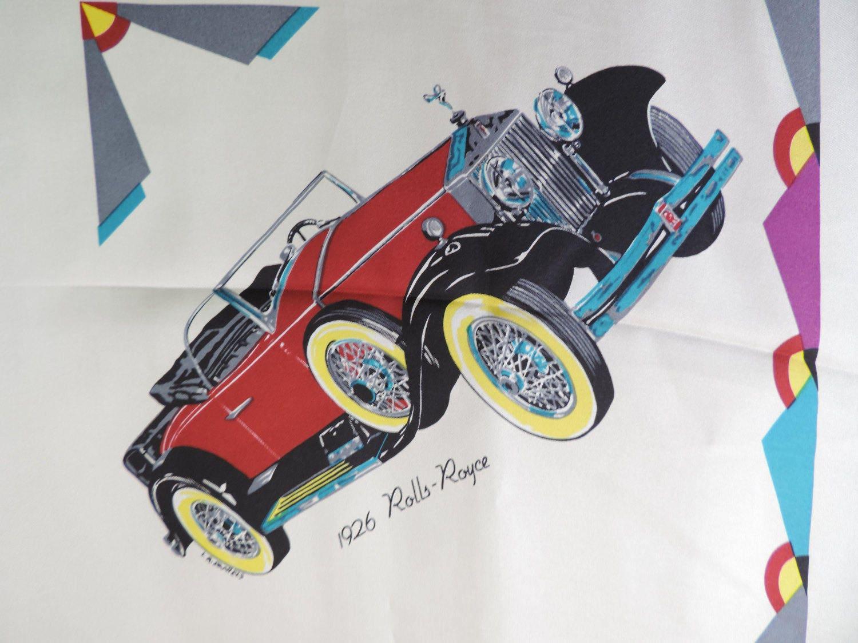 Concours de Elegance silk scarf vintage cars square 1993 Dallas ...