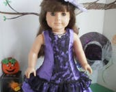 Monster Ball  Dress, Boa & Hat for american girl size dolls, Complete Halloween Costume for 18 inch dolls