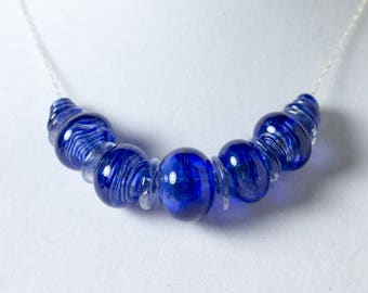 Cobalt blue bubble necklace