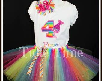 Rainbow Trolls Poppy 1st 2nd 3rd 4th 5th number birthday shirt onesie tutu dress combo bow headband size 12m 18m 24m 3t 4t 5t
