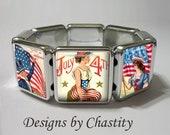 4th of July Bracelet Stretch Bracelet