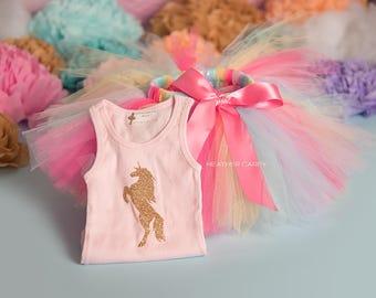 Unicorn Birthday Outfit | Unicorn Birthday Outfits | 1st Birthday Outfit | First Birthday Outfit | Unicorn Tutu | Cake Smash Outfits