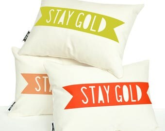 Accent pillows, mustard yellow pillow, stay gold, pillows with words, pillows with sayings, decorative pillows, decorative cushions