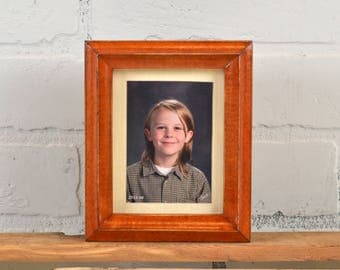 3.5x4.5 ACEO Wallet Size Picture Frame with Vintage Wood Tone Finish in Deep Double Cove Style - IN STOCK Same Day Shipping - 2.5x3.5 Photo