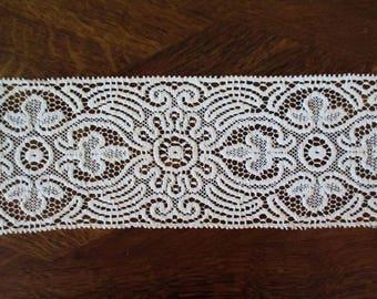 Vintage Lace Trim Antique Lace Trim Wide Ecru Cotton