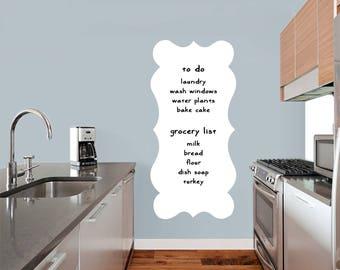 Fancy Dry Erase - Dry Erase Office Kids Room Kitchen Wall Decals