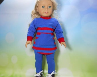 18 inch doll clothes, Two Piece Outfit, Oversized Top and Leggings, 08-2250