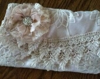 Beautiful Blush Handmade Bride or Bridesmaid Clutch