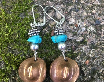 Penny, cowboy, hats, cowgirl, turquoise, earrings.
