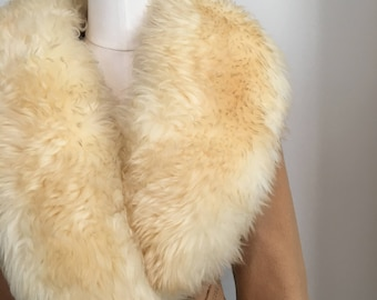 Camel Winter Coat with Faux Fur Size 4