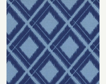 last call Simply Color by V & Co for Moda Fabrics, Ikat Diamonds in Navy Blue 1/2 yard total